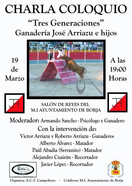 Charla -3 generaciones- José Arriazu e Hijos 1 (Cartel)